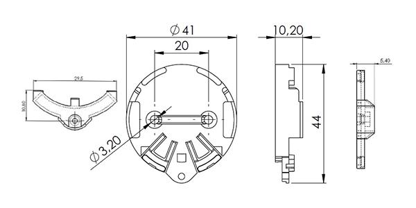 plan mécanique support