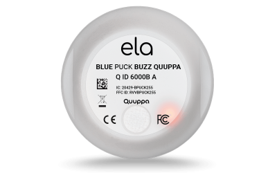 Blue PUCK BUZZ QUUPPA LED